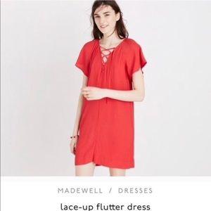 Madewell lace up flutter dress size XXS